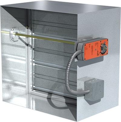 greenheck new actuator helps reduce damper installation