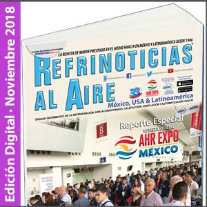 REFRINOTICIAS AL AIRE México, USA & Latinoamérica - Noviembre 2018